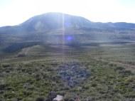 Razor Creek Dome in the morning sun