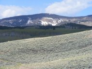 A view of Sawtooth Mountain