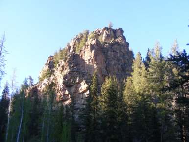A knob of rock above the Taylor River