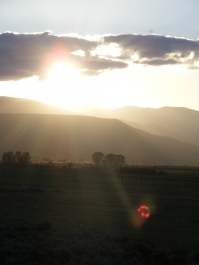 Sunset over the West Elk Mountains