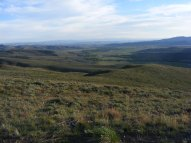 The sagebrush steppe to the south of Point 8882