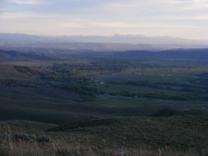 Sunset above Gunnison, seen from Point 8882 near Almont