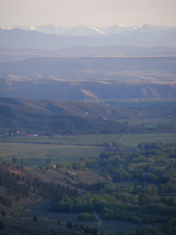 The San Juan Mountains near San Luis Peak above the eastern side of the City of Gunnison