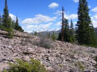 Hiking up the eastern slope of Round Mountain