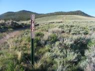 Gunnison National Forest Road 782 at its eastern terminus