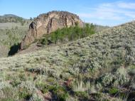 Igneous rock outcropping just above Barret Creek