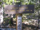 At the junction with Trail 502 in the Cochetopa Hills