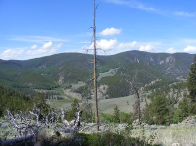 Overlooking Lower Park from North Gulch