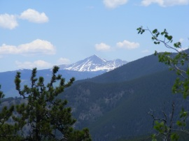 Peaks above timberline, clad in snow