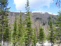 Approaching Baldy Lake, some snow still on the ground