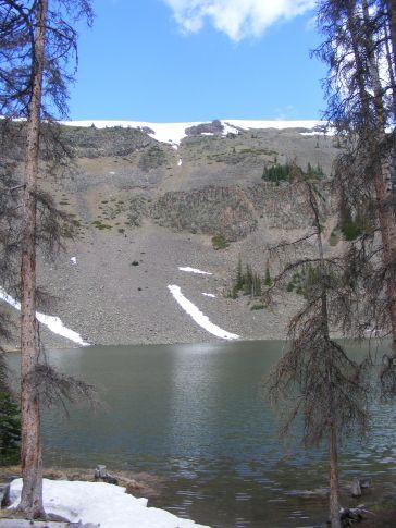 Baldy Lake under Long Branch Baldy