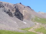 Odd geology is heritage to volcanic history of the San Juan Mountains, here in Porphyry Basin