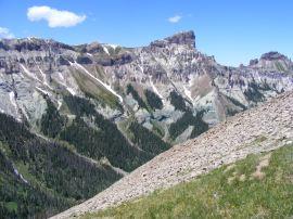 Precipice Peak and Dunsinane Mountain, to the right