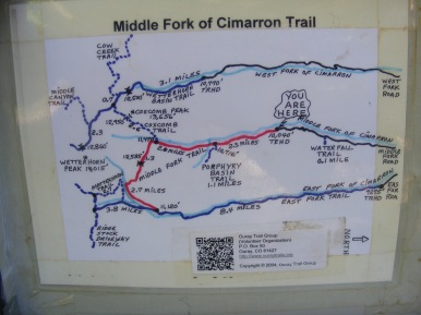 Signage at the Middle Fork Trailhead