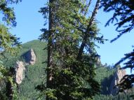 Jagged outcroppings above Larson Creek