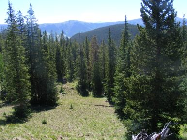 Near the pass between Larson Creek and Independence Gulch