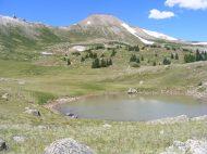 An alpine pond near Point 13091