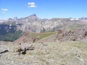 Looking over to Uncompahgre Peak