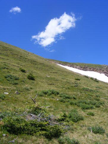 A lingering cloud over Crystal Peak