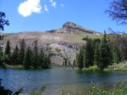 Crystal Peak above Crystal Lake