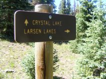 Signage near Crystal Lake on the eponymous trail