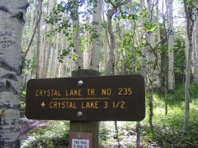 Crystal Lake Trail No. 235 on the Uncompahgre National Forest