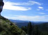Climbing the ridge above Mill Lake