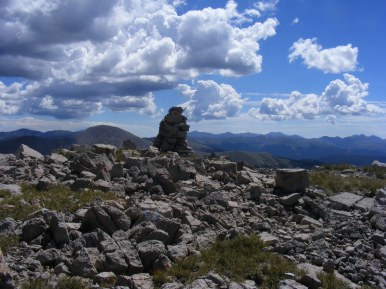 Cairn on Fossil Mountain