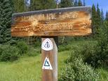 At the Timberline Lake Trailhead on the San Isabel National Forest
