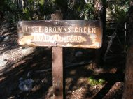 Signage for Little Brown's Creek Trail No. 1430