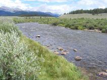 Texas Creek draining from the Sawatch Range