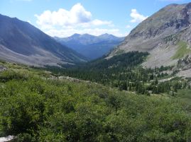 The view of the world beyond Waterloo Gulch
