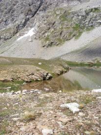 The upper pond on Waterloo Gulch