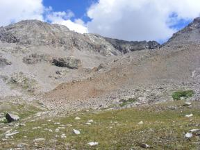 Talus commands the very end of Waterloo Gulch