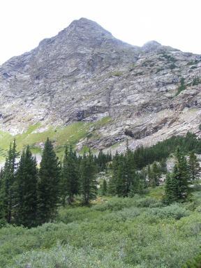 Granite ridge above Waterloo Gulch