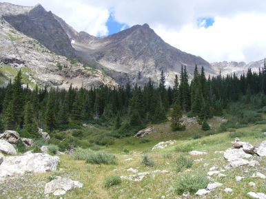 Fine setting in Waterloo Gulch, the Rocky Mountains of Colorado