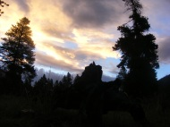 Dawn over Texas Creek in the Collegiate Peaks Wilderness