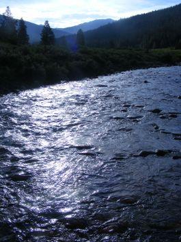 Texas Creek draining the Sawatch Range