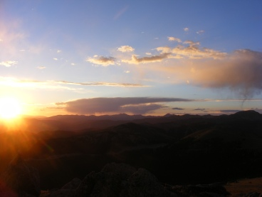 Last light from Mount Peck