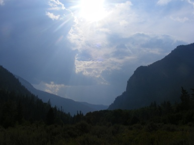 Evening Sun over the South Fork Canyon