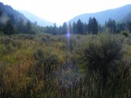 Morning Sun above South Fork Canyon