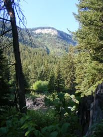 The rim of South Fork Canyon