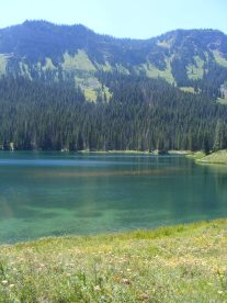 Aquamarine Marvine Lakes in the Flat Tops Wilderness