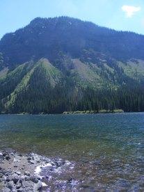 Looking across Marvine Lakes