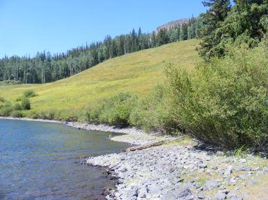 Shoreline of Marvine Lakes