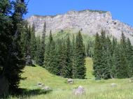 Cliffs rising above Marvine Creek