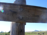 The junction of the East Marvine and Oyster Lake Trails