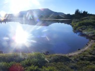 Twin Lakes with Trappers Peak beyond
