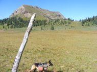 Leah on the trail to Big Marvine Peak