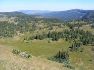 The view climbing Big Marvine Peak